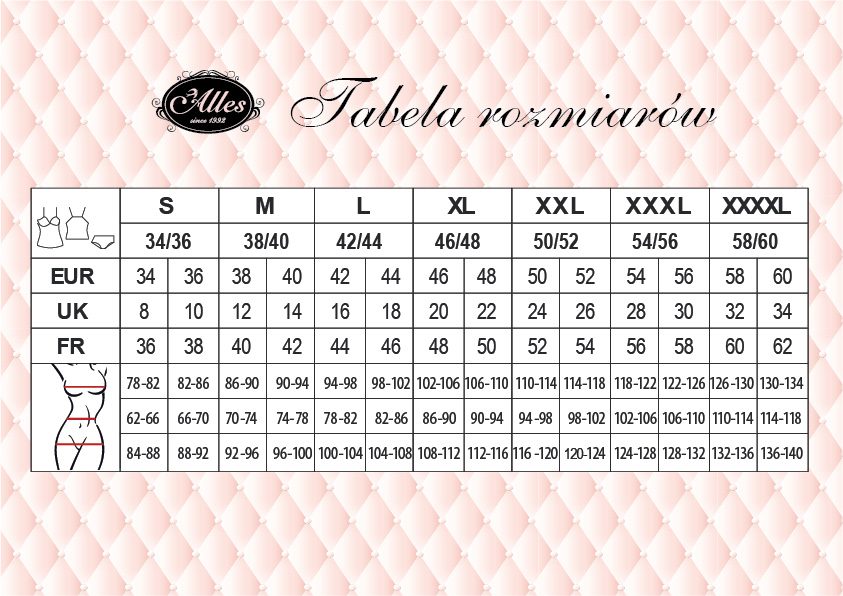 Tabela rozmiarów Alles