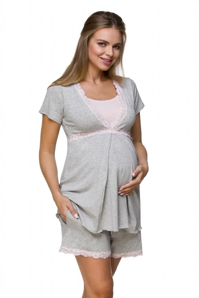 Lupoline Piżama damska ciążowa i do karmienia 3126