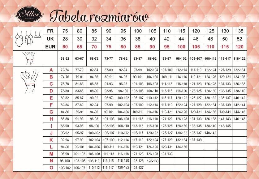Tabela rozmiarów Alles 2